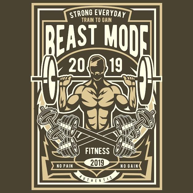 Beast Mode Gym Vector Premium Download