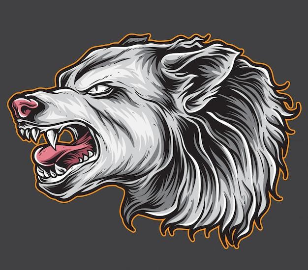 Beast wolf vector Premium Vector