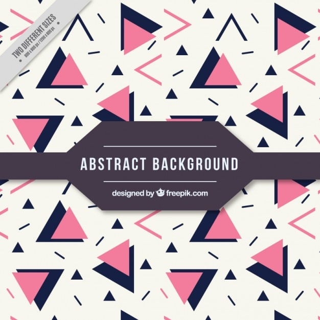 Beautiful abstract background with pink and\ black triangles