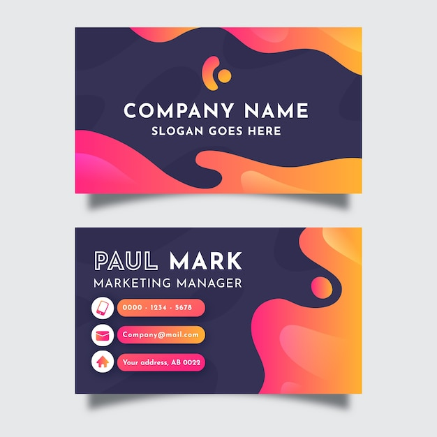 Beautiful abstract business card Free Vector