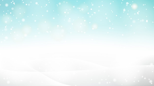 Beautiful abstract snowy bokeh background for winter or christmas Premium Vector