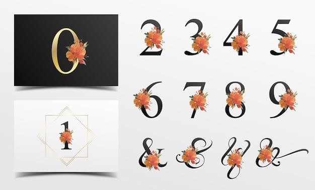 수채화 꽃 장식으로 아름 다운 알파벳 컬렉션 무료 벡터