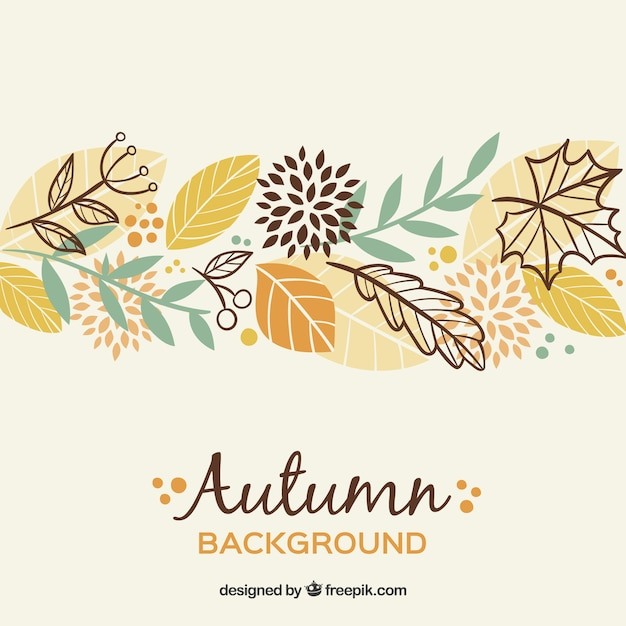 Beautiful autumn backgorund Free Vector
