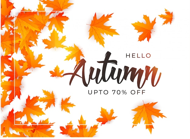 Beautiful autumn leaves background template Vector | Free Download