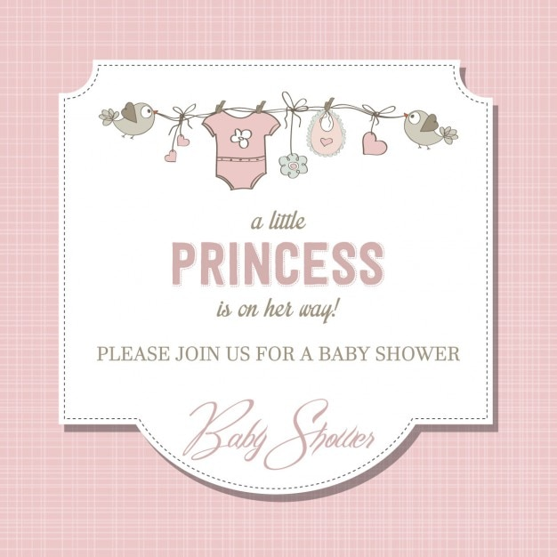 baby shower girl vectors, photos and psd files  free download, Baby shower invitation