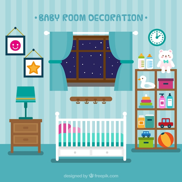 Beautiful Baby Rooms: Beautiful Baby Room With Toys Vector