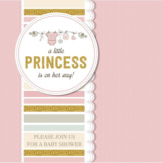 Beautiful baby shower card Premium Vector