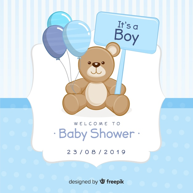 Beautiful baby shower concept Free Vector