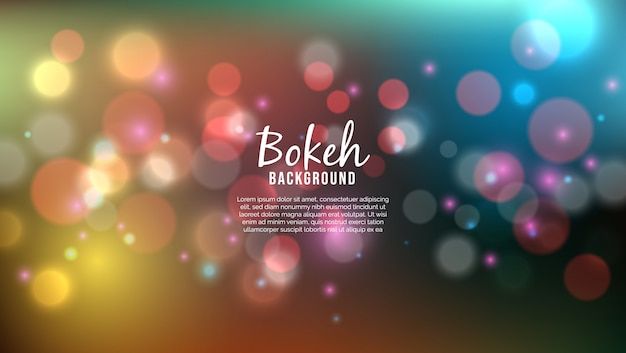 Beautiful background with bokeh lights effect Premium Vector