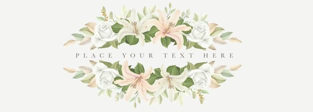 Bellissimi fiori di giglio banner Vettore gratuito