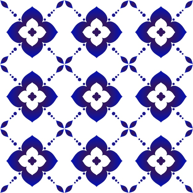 Beautiful batik pattern Premium Vector