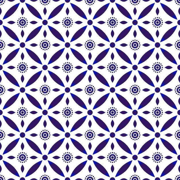 Beautiful batik patterns Premium Vector