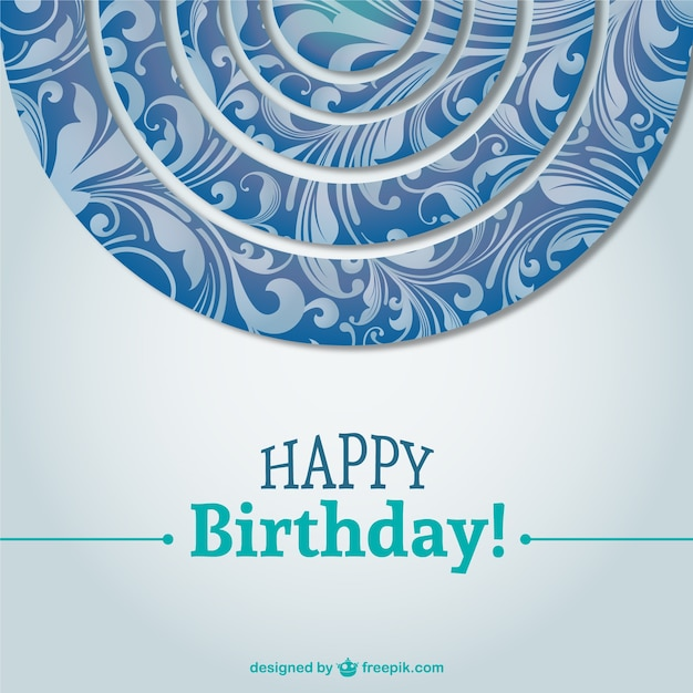 Beautiful Birthday Card Background Vector Vector Free Download