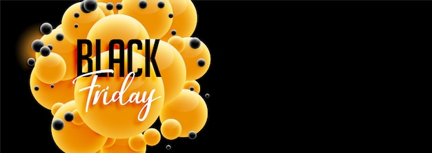 Beautiful black friday banner design in 3d style Free Vector