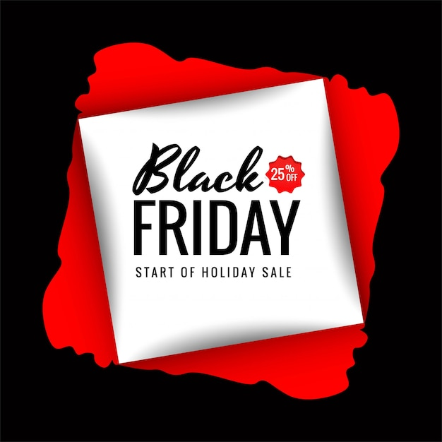 Beautiful black friday shopping sale creative text Free Vector