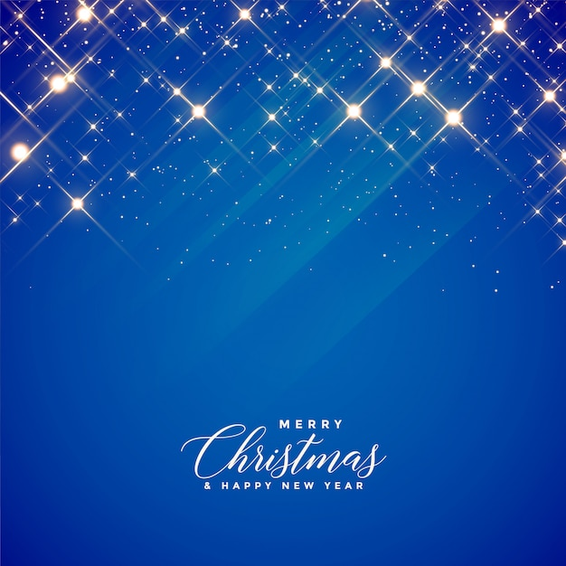 Beautiful blue sparkles background for christmas season Free Vector