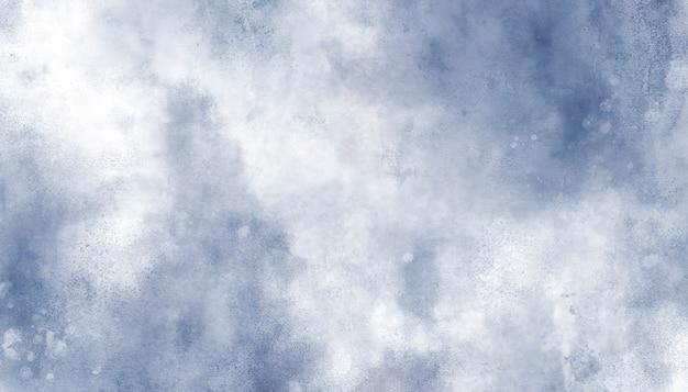美しい青い水彩画の背景 無料ベクター