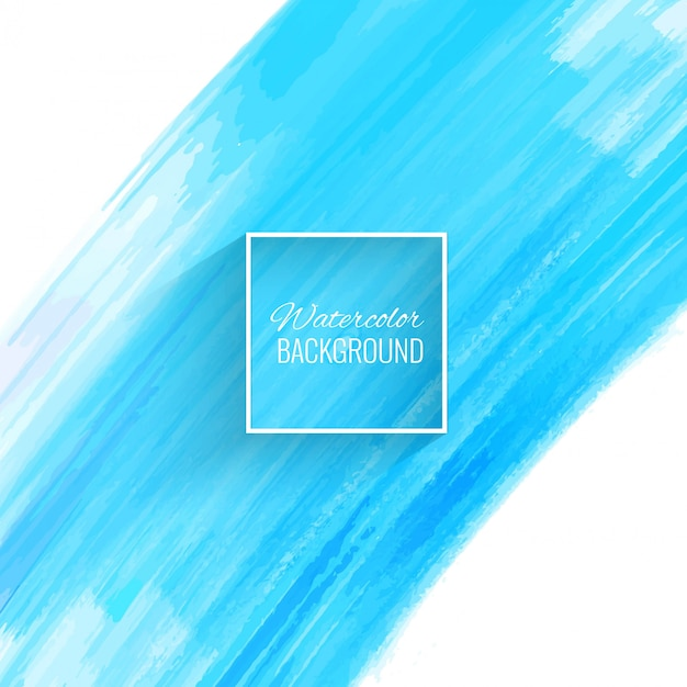 Beautiful blue watercolor stroke background Free Vector