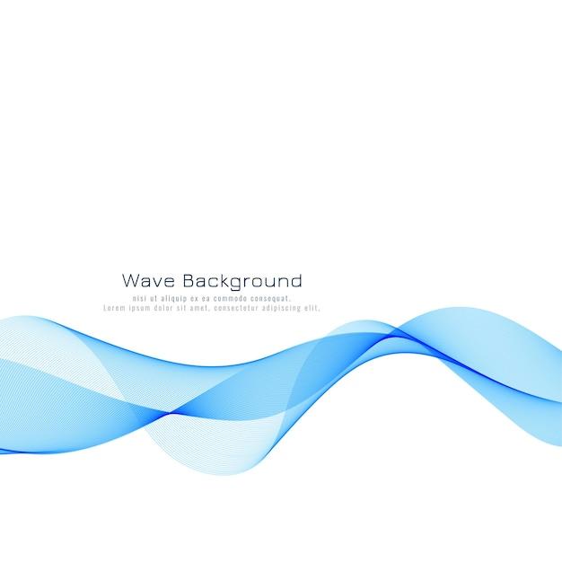 아름다운 푸른 파도 배경 디자인 무료 벡터