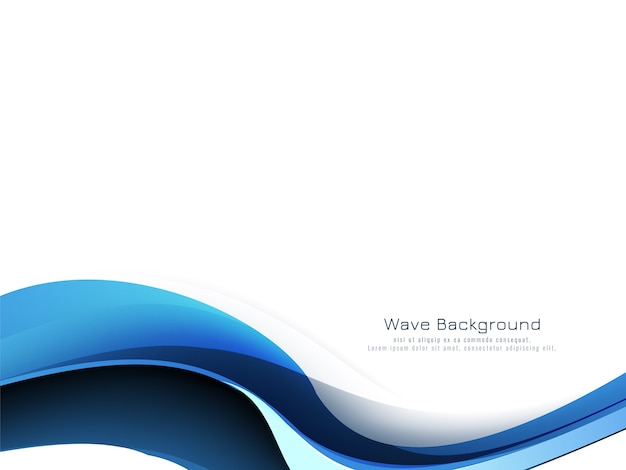 Beautiful blue wave modern decorative background vector Free Vector