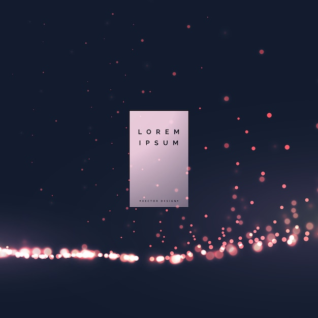 Beautiful bokeh light effect background Free Vector