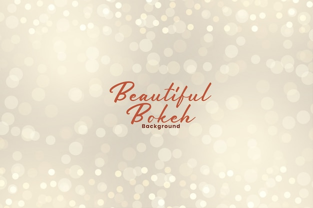 Beautiful bokeh lights effect sparkling background Free Vector