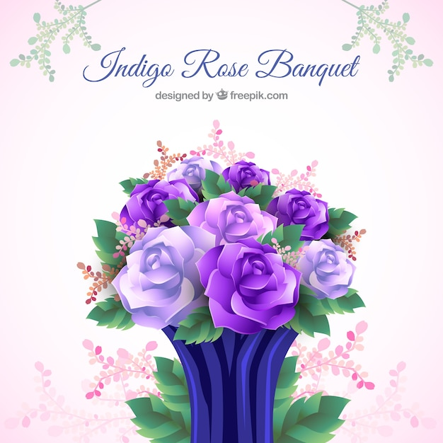 Beautiful bouquet of violet flowers