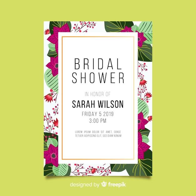 Beautiful bridal shower design Free Vector