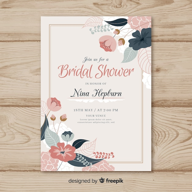 Beautiful Bridal Shower Template Vector Free Download