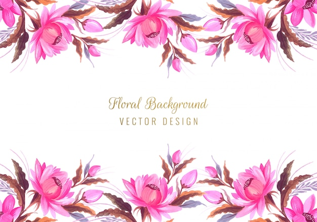 Beautiful bunch wedding floral background Free Vector