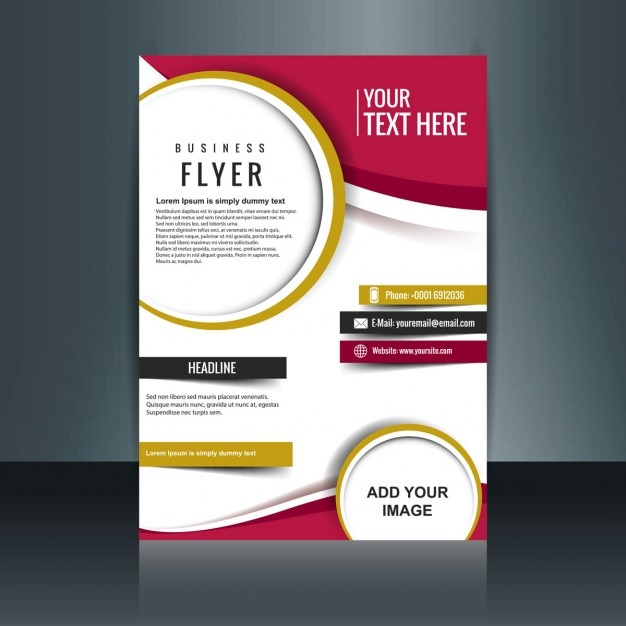 flyer layout template free