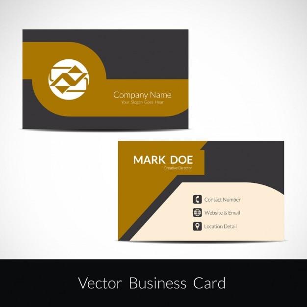 Beautiful business card template Vector