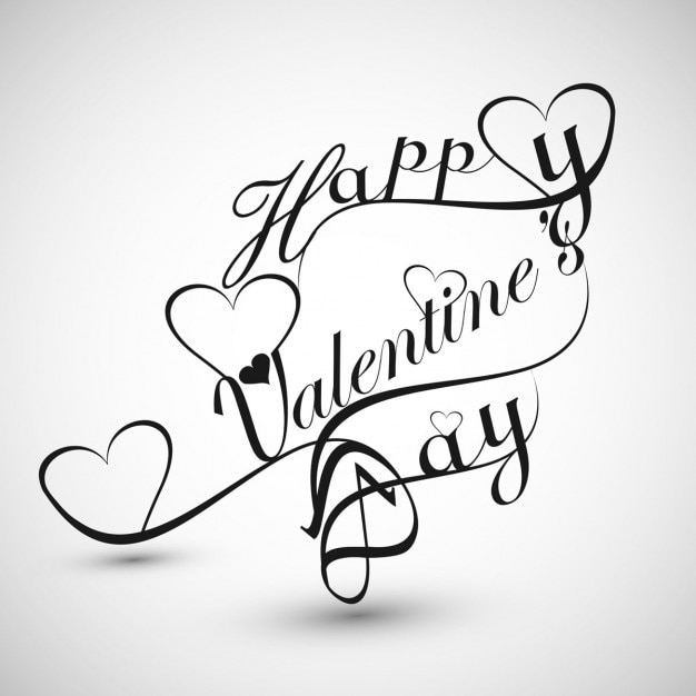 Beautiful calligraphy of valentines day vector free download