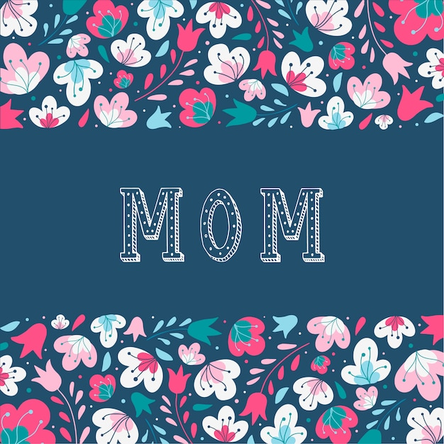 Beautiful card for mother's day Premium Vector
