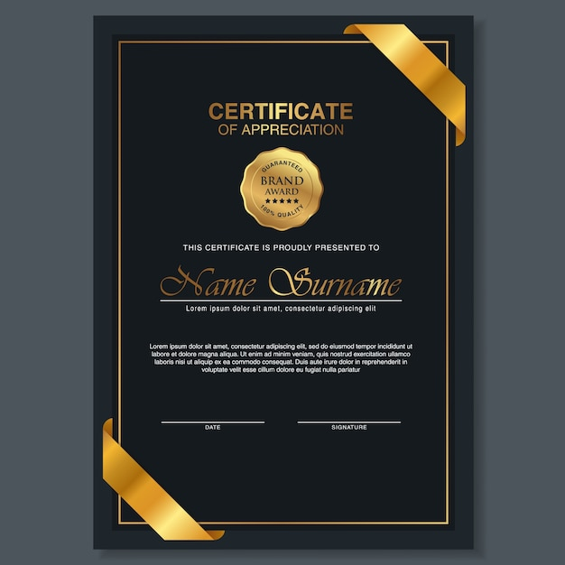 Beautiful certificate template design with best award symbol vector beautiful certificate template design with best award symbol premium vector yelopaper Images