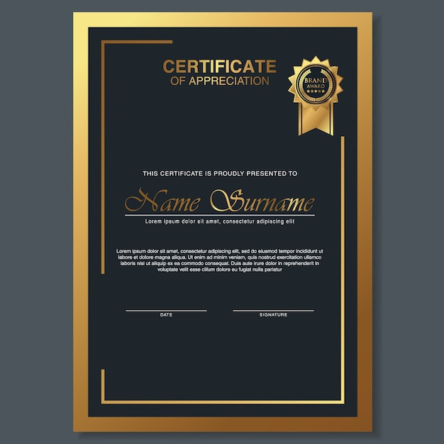 Beautiful certificate template design with best award symbol beautiful certificate template design with best award symbol premium vector yadclub Images