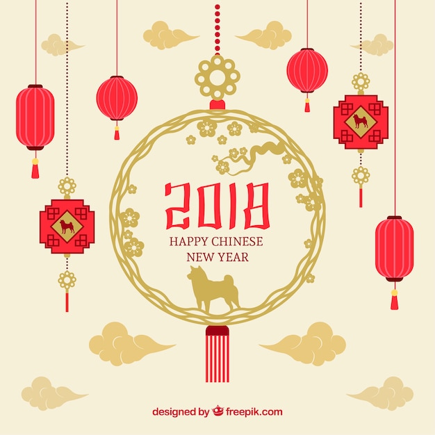 Beautiful chinese new year background Vector   Free Download