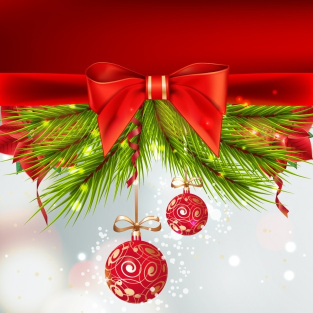 Beautiful Christmas Background.Beautiful Christmas Background With Red Balls Hanging Vector