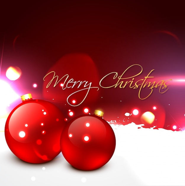 beautiful christmas ball Free Vector