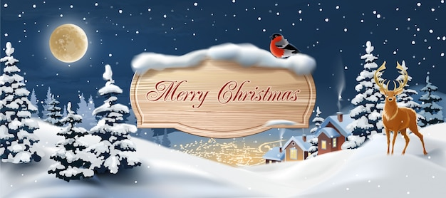 Beautiful christmas banner Vector | Free Download