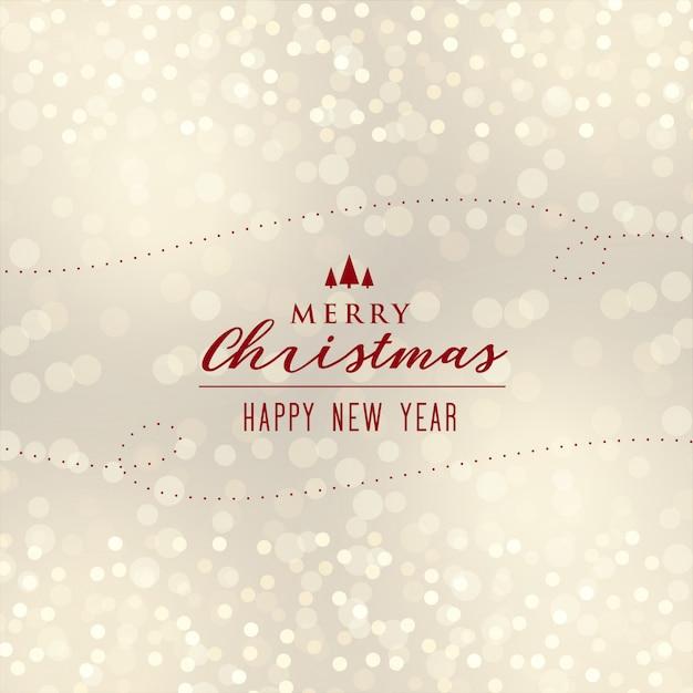 Beautiful christmas bokeh background design Free Vector