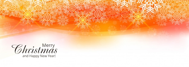 Beautiful christmas card festival banner template Free Vector