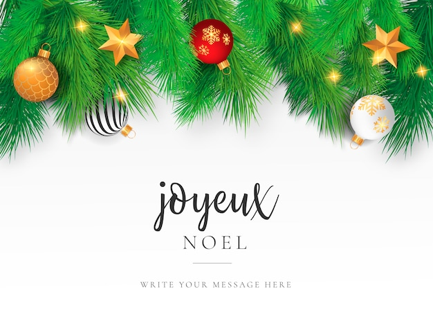 Beautiful Christmas Card Template Vector Free Download