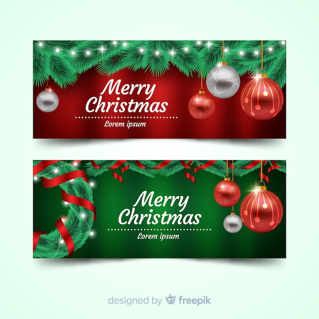 Beautiful christmas facebook banner Vector | Free Download