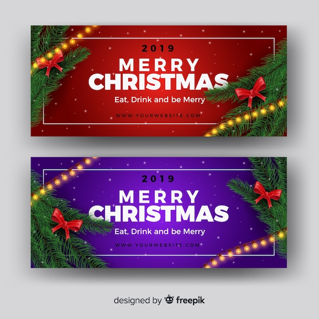 Beautiful christmas facebook cover Vector | Free Download