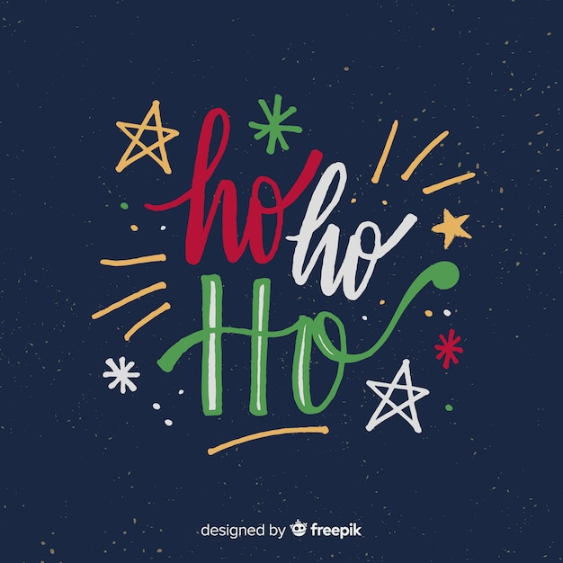 Christmas Lettering.Beautiful Christmas Lettering Background Vector Free Download