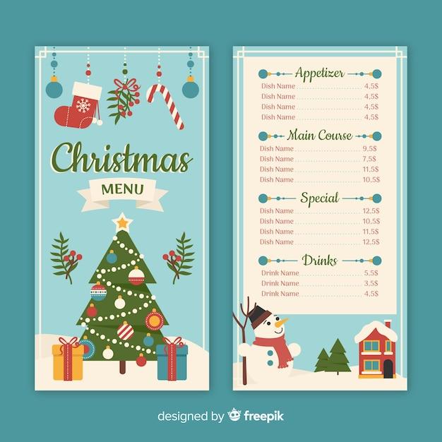 Holiday Menu Template from image.freepik.com