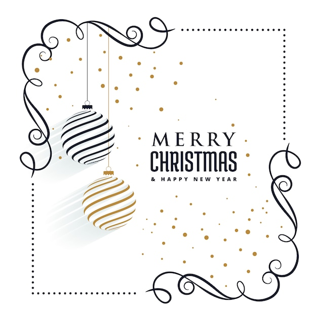 beautiful christmas ornaments decorative elements background Free Vector