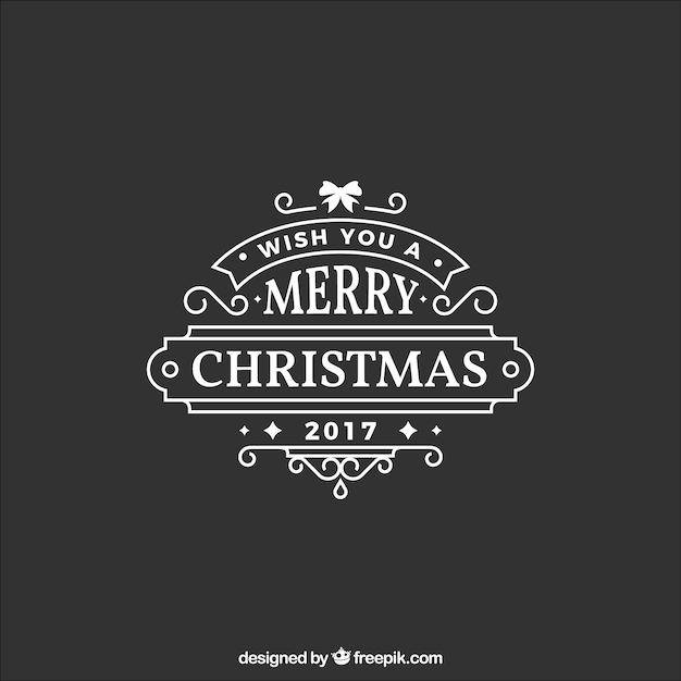 Beautiful christmas sticker in flat design Free Vector