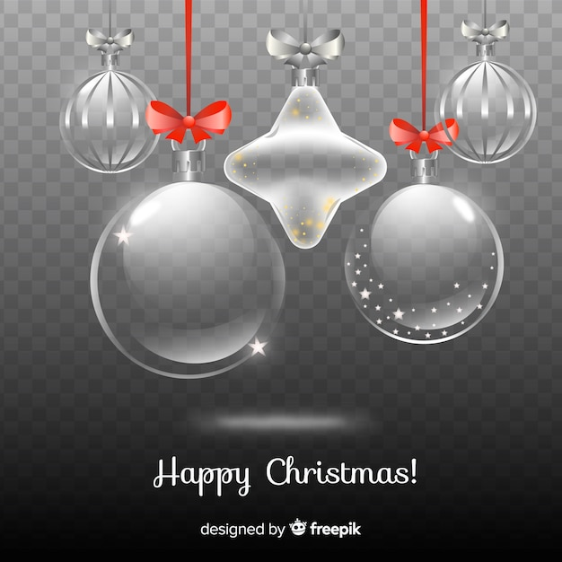Beautiful christmas in transparent background Free Vector